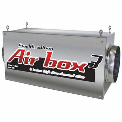"Air Box 3 Stealth Edition 1200 CFM 8"" Flanges Charcoal Inline Filter"