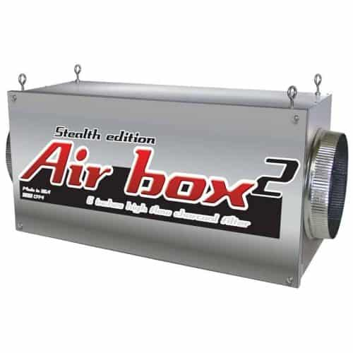 Air Box 2 Stealth 800 CFM 6″ Flanges Charcoal Inline Filter