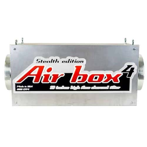 Air Box 4 Stealth 2000 CFM 10″ Flanges Carbon Inline Filter